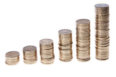 opklimmende rij euromunten